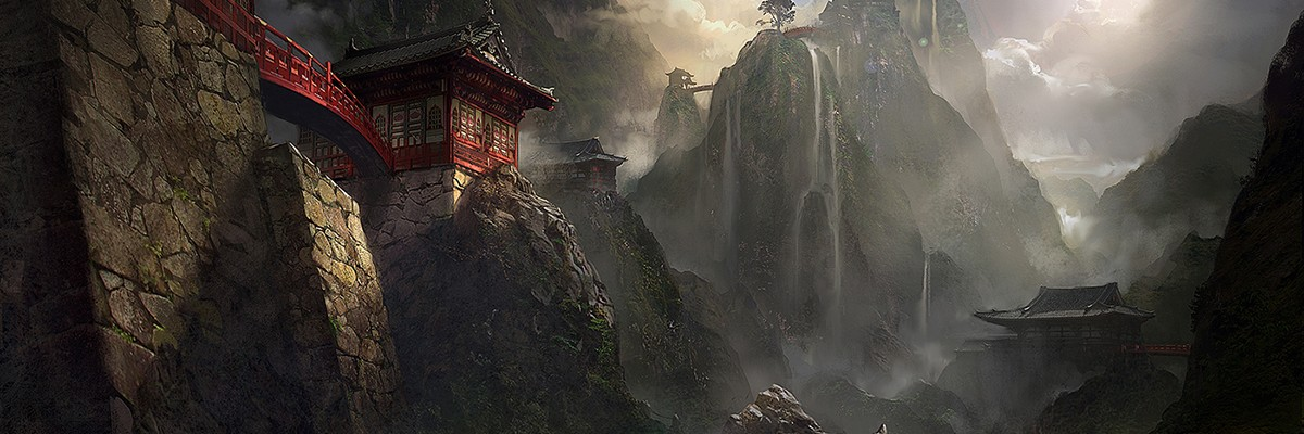 Art work by James Paick. Concept art for Crystal Dynamics' 2013 Tomb Raider reboot.