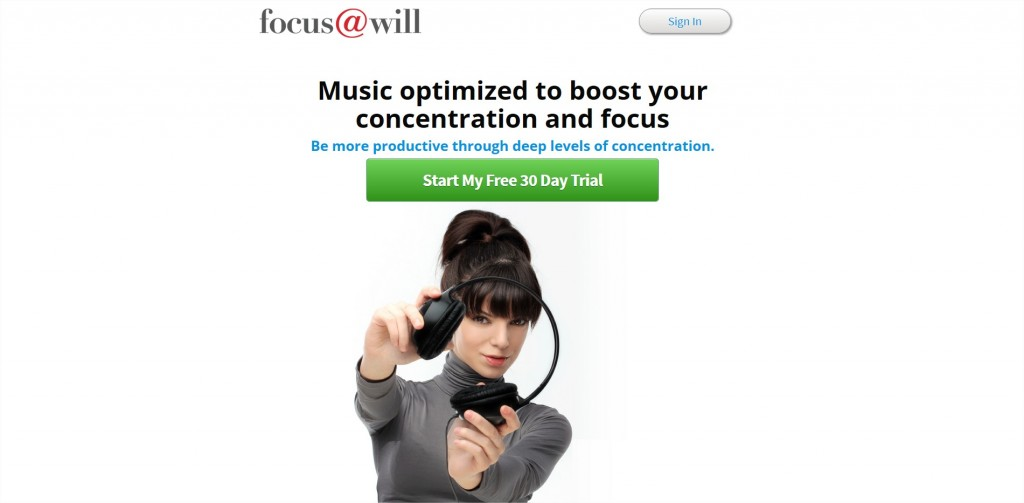 Online music service focus@will plays you repetitive, vocal-free tracks to help you get into flow and stay there.