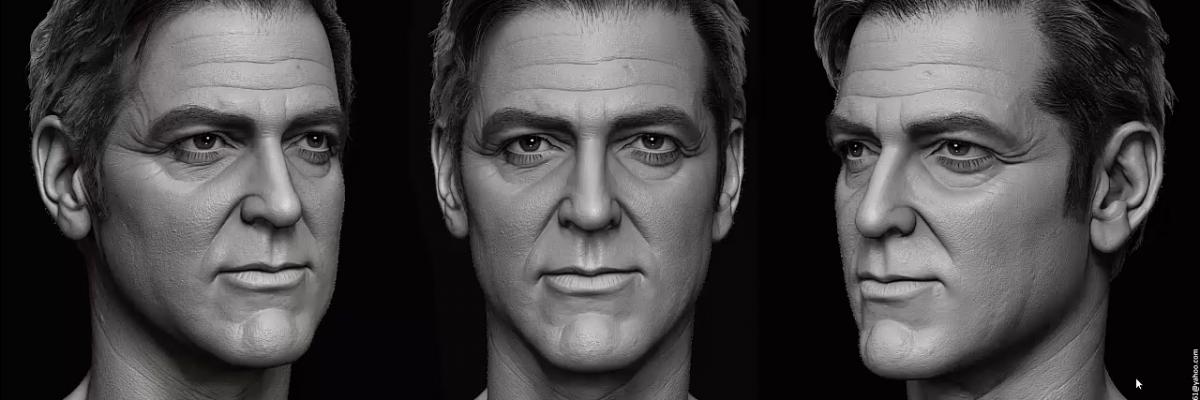 Sculpting George Clooney in ZBrush by Hossein Diba - ArtStation Magazine