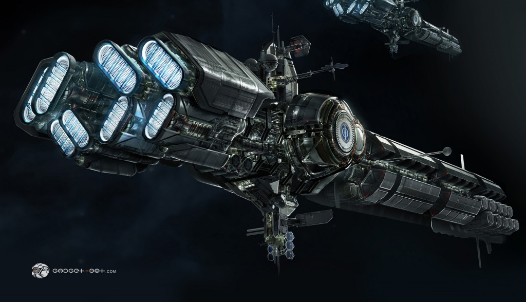 Concept art for Ender's Game.