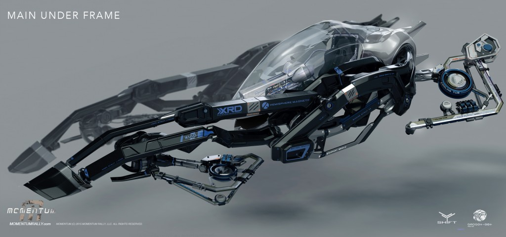 Concept art for Momentum, Gadget-Bot's own live-action sci-fi drama.