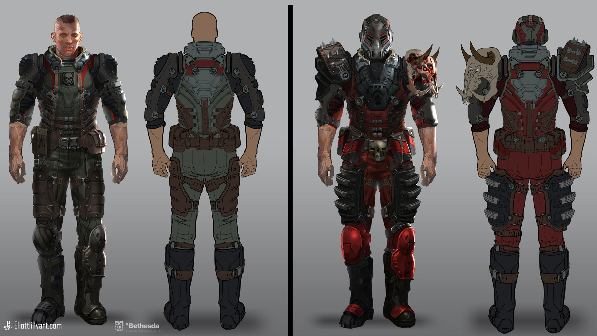 Concepts for id Software's Rage created by Eliott Lilly.