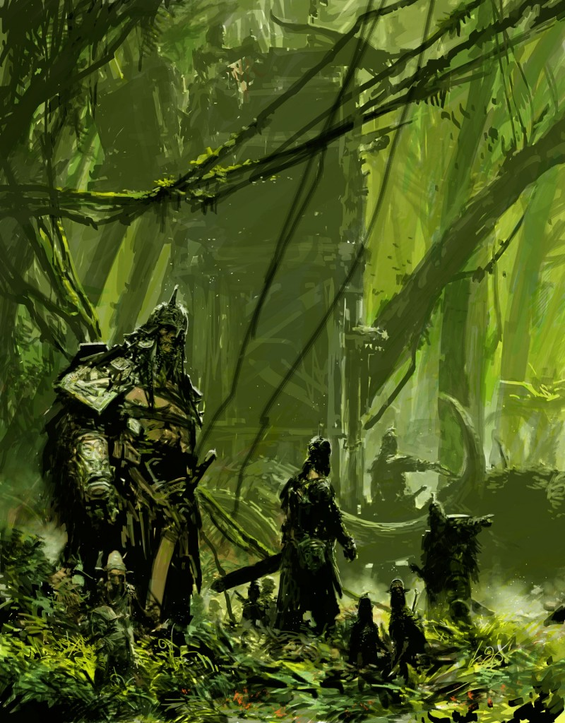 In The Jungle: illustration from Hyung Min-Woo's trilogy of books, Eastania and Westania.