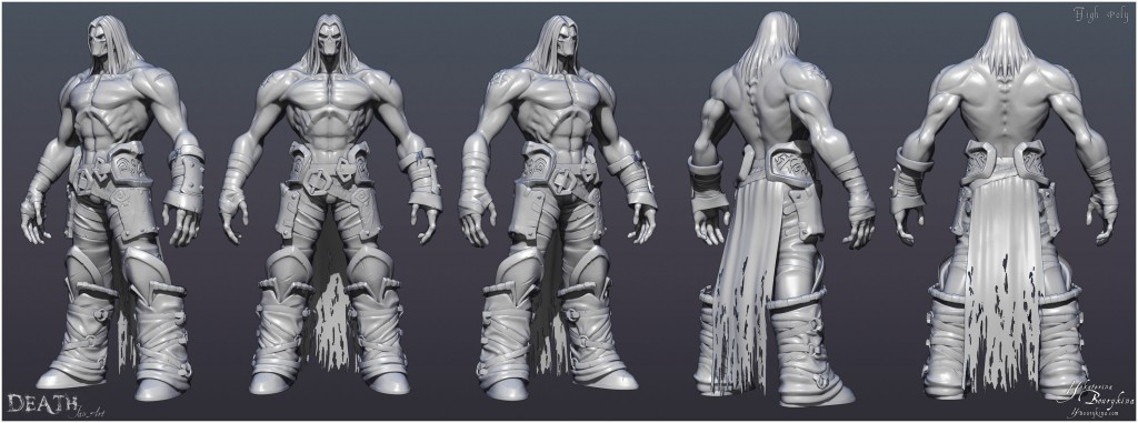 Death: Darksiders fan art.