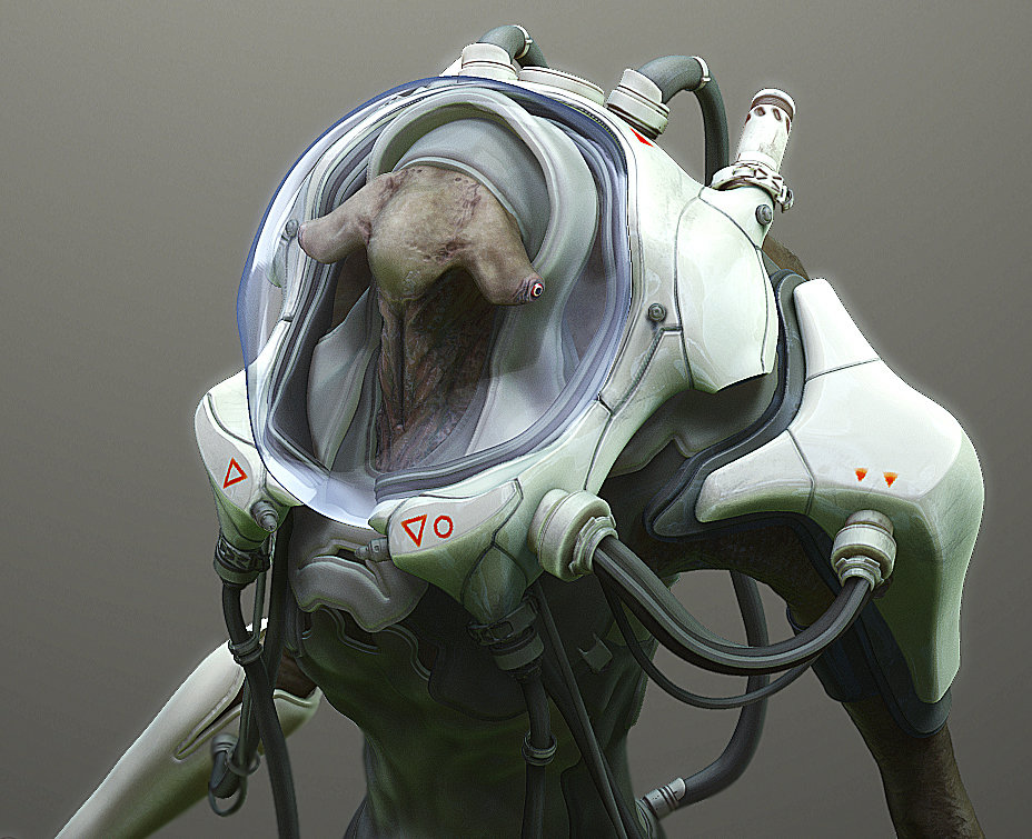 Diver: a character created for 3D Total.