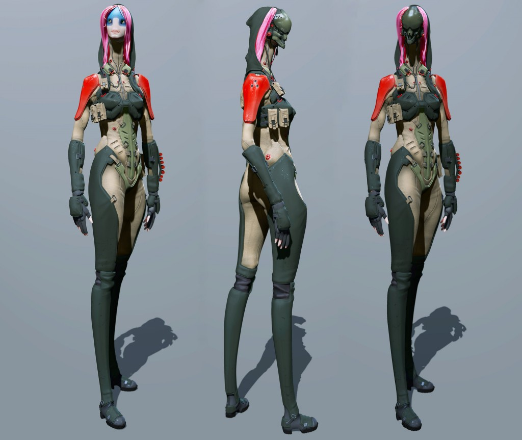 Leona: a character created for the cover of 3D Artist magazine.