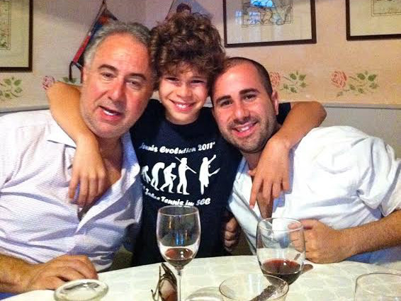 The brothers in reality: Fede Ponce (right) and his younger brother.