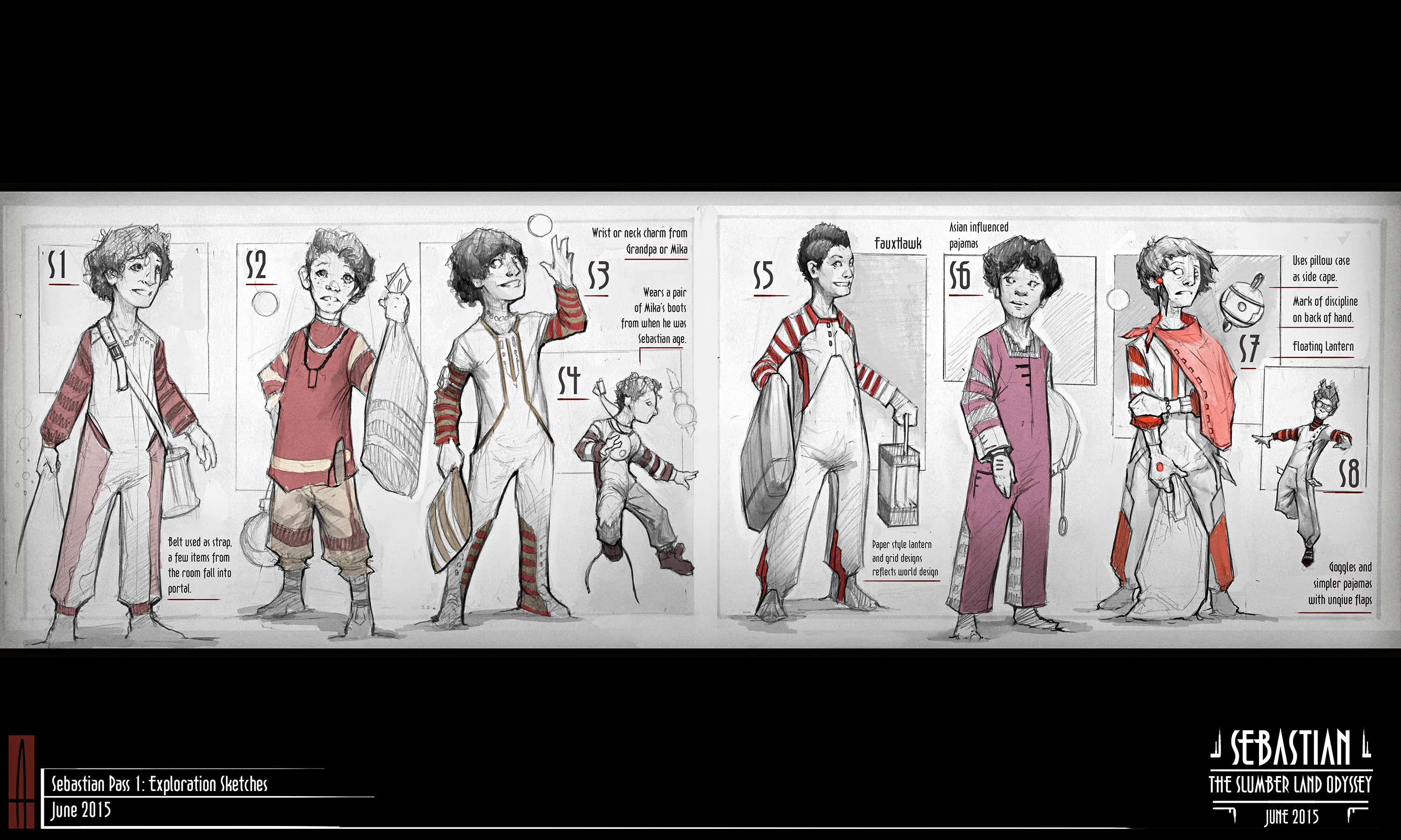 The brothers in fiction: concept art of the main character from Sebastian: The Slumberland Odyssey.