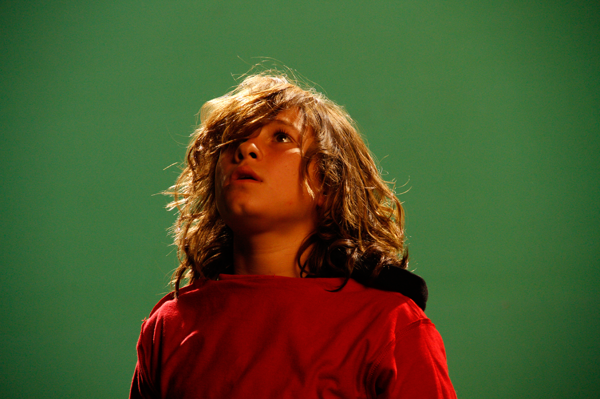 The actor playing Sebastian, during the live shoot for the proof-of-concept trailer.