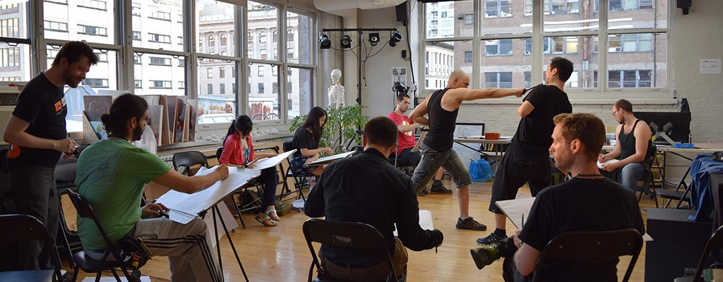 Figure Drawing with professional combat actors Shawn Baichoo and Kristina San_AS