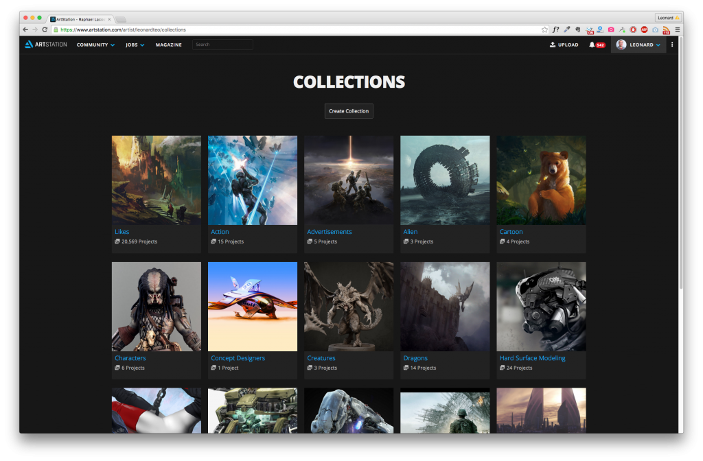 Your likes and collections are now combined on the Collections page.