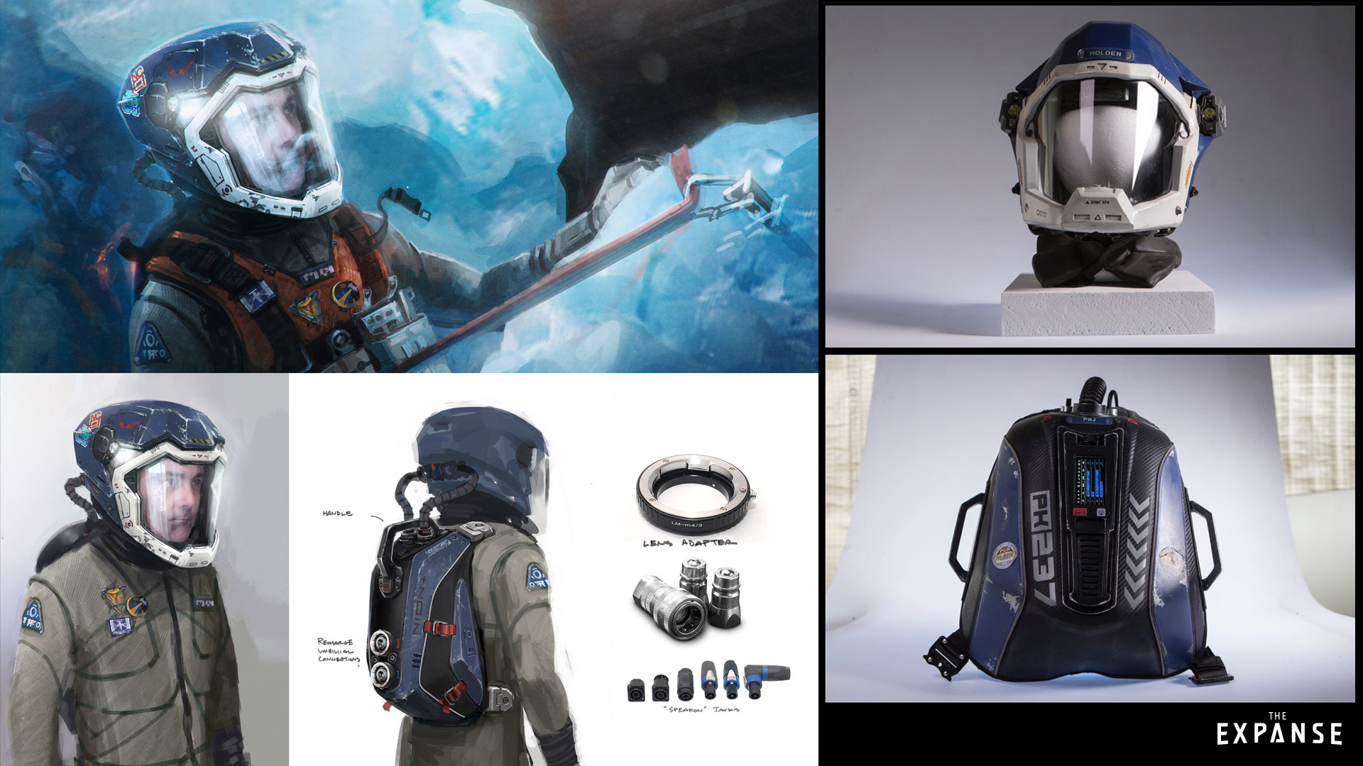 Equipment designs for the crew of The Canterbury.