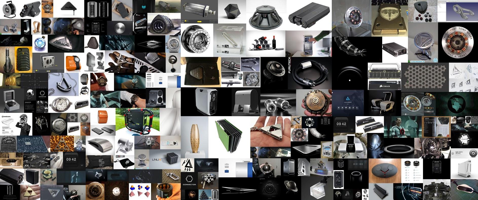 Ivan's design inspirations for the ArtStation awards