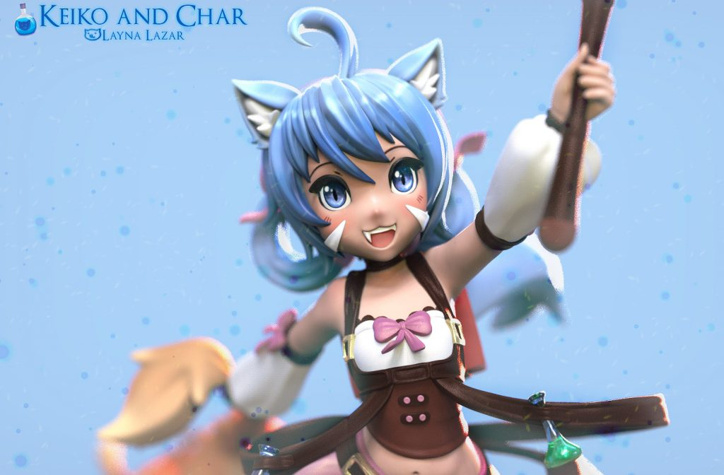 1st Place 3D Character Art: Layna Lazar
