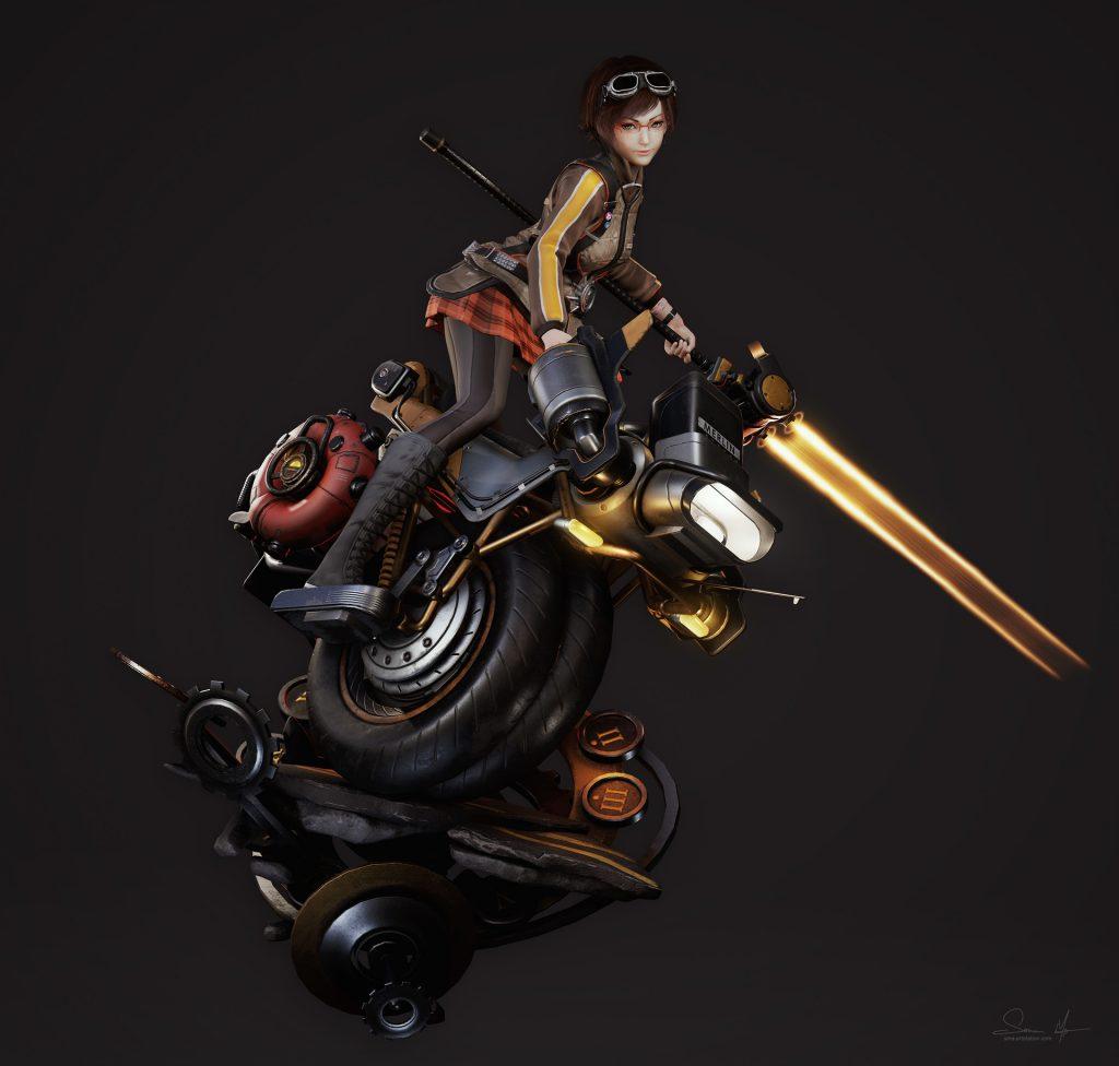 3rd Place 3D Character Art: Saimon Ma