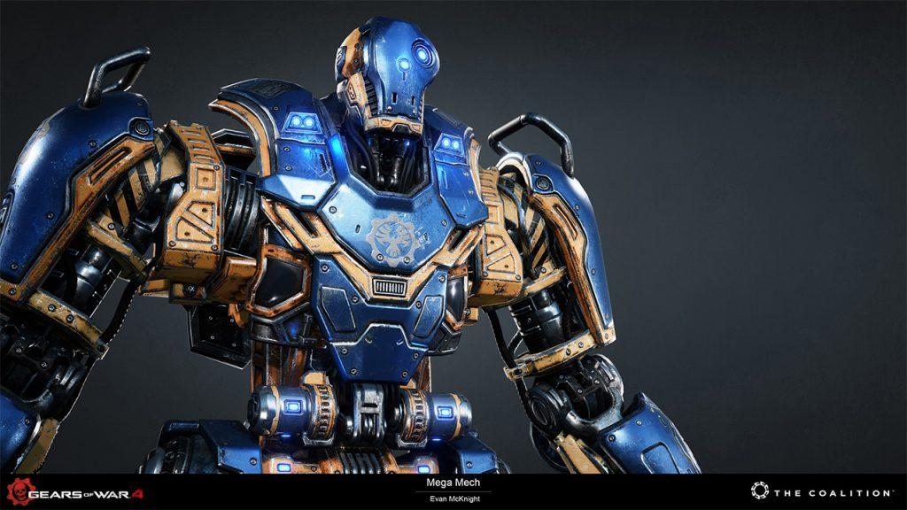 Evan McKnight (Weapon & Vehicle Artist): Gears of War 4