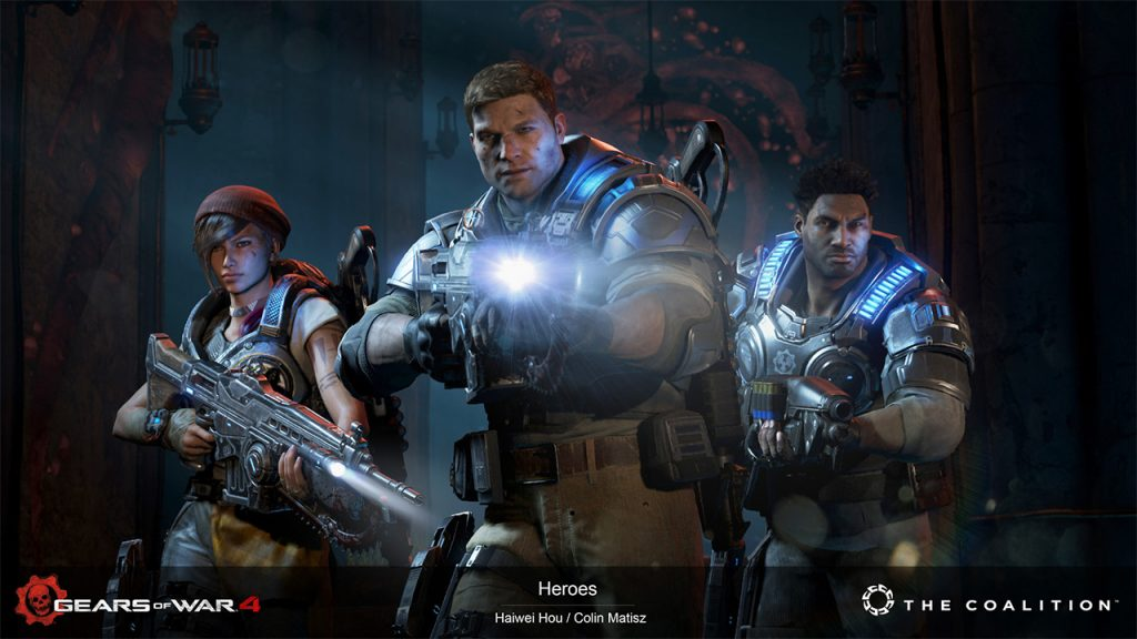 Haiwei Hou (3D Marketing Artist): Gears of War 4