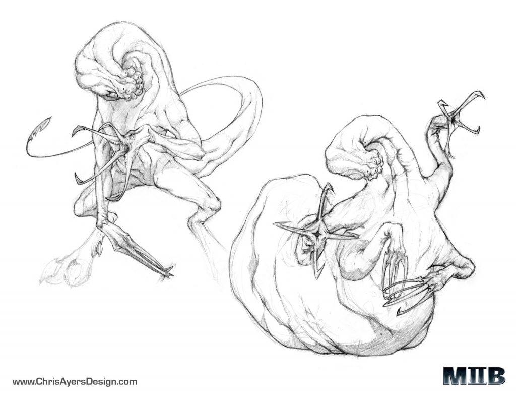 Concept sketches from Men in Black II