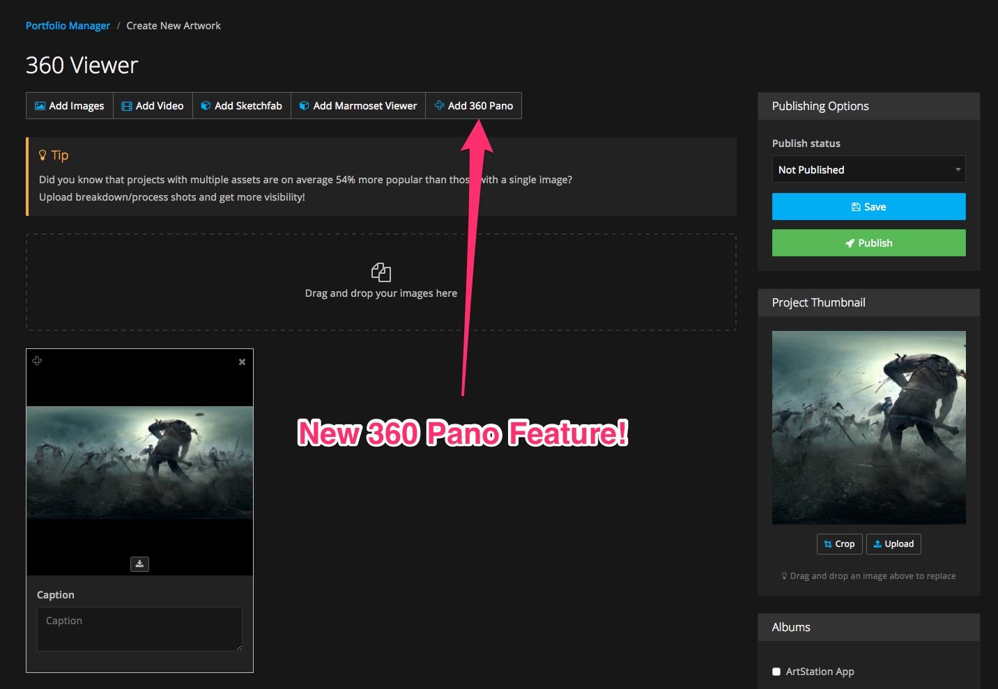 360 Panorama Support - ArtStation Magazine