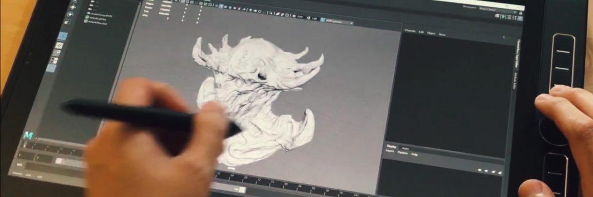Kouji Tajima tests the Wacom MobileStudio Pro 16 with ZBrush