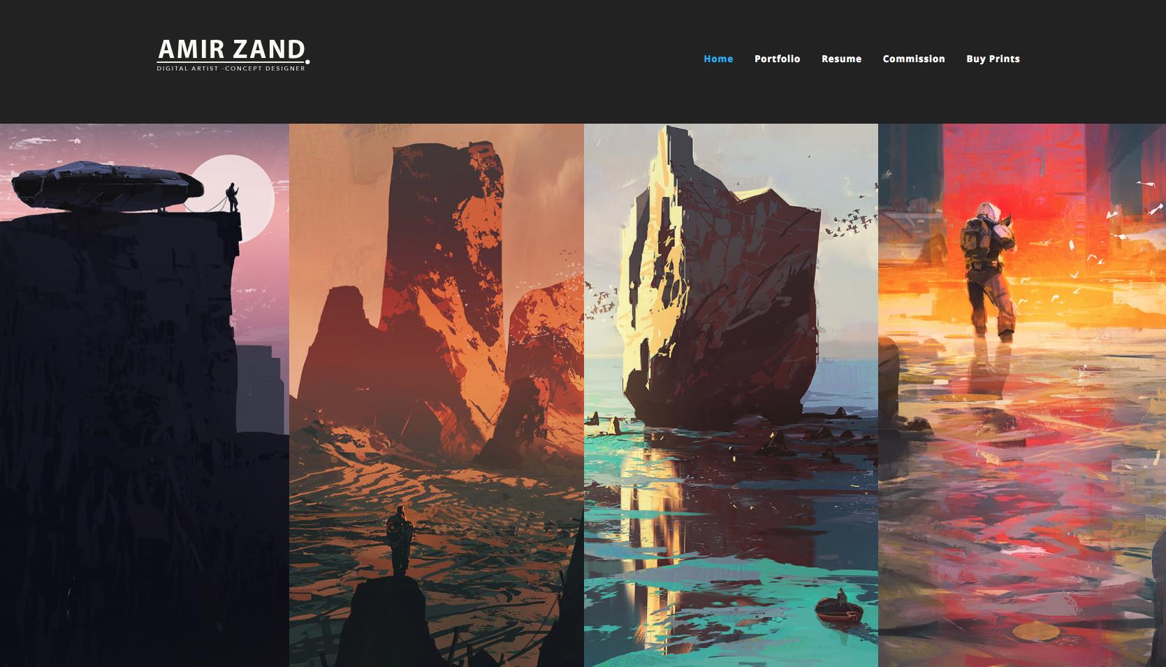 Featured Pro Portfolio Amir Zand Artstation Magazine