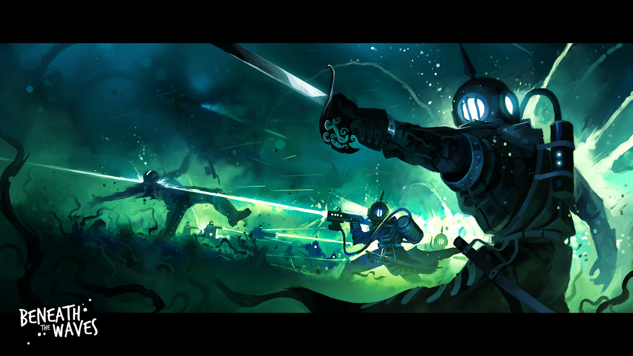2nd Place, Beneath the Waves: Keyframe Concept Art