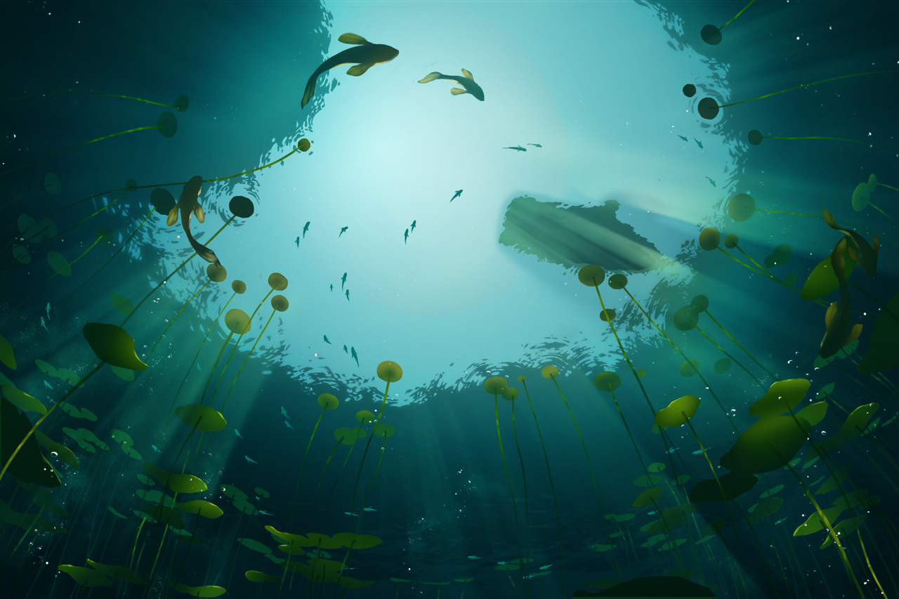 Honorable Mention, Beneath the Waves: Keyframe Concept Art