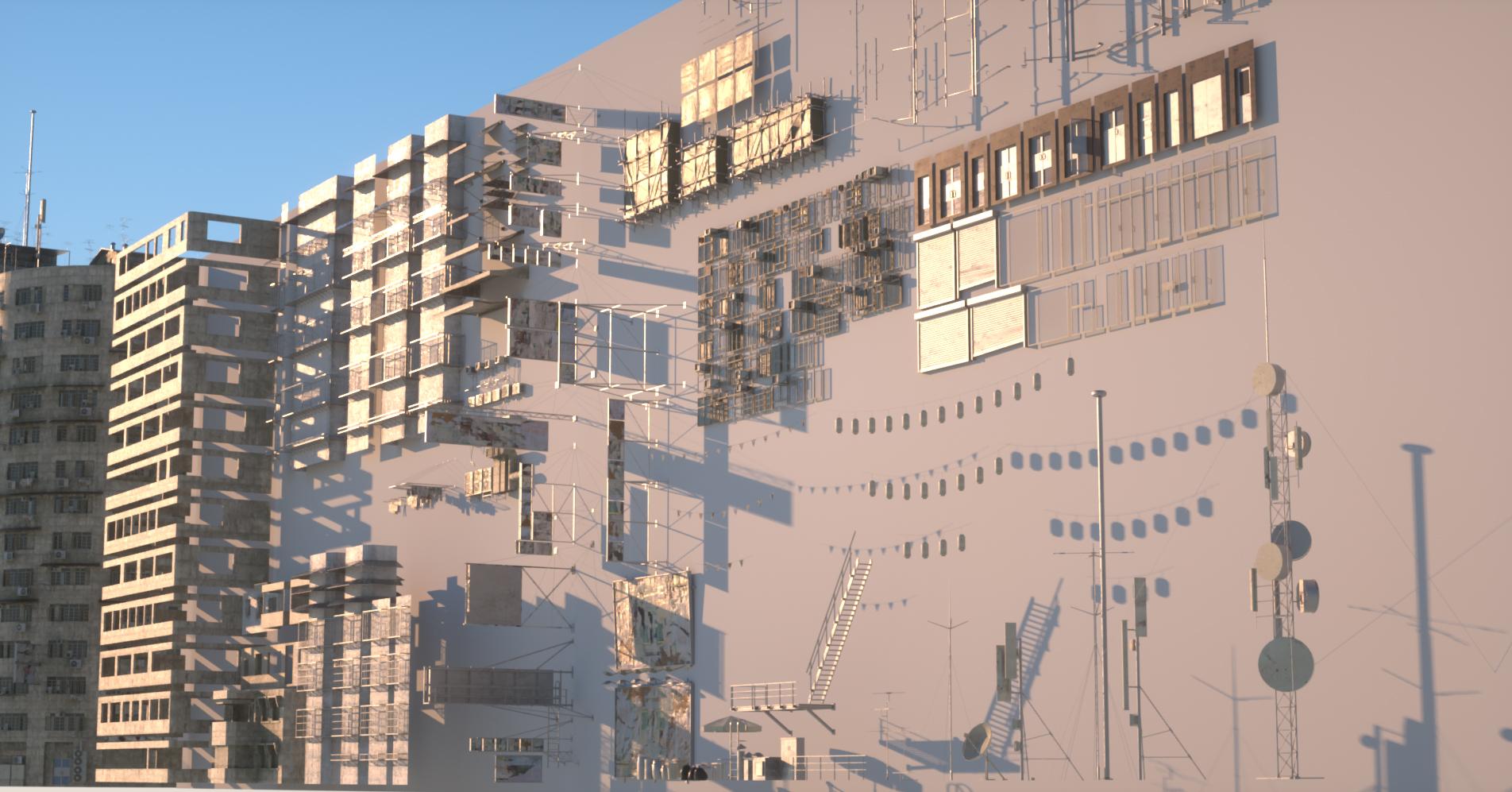 KitBash3d: The Future Slums Kit - ArtStation Magazine