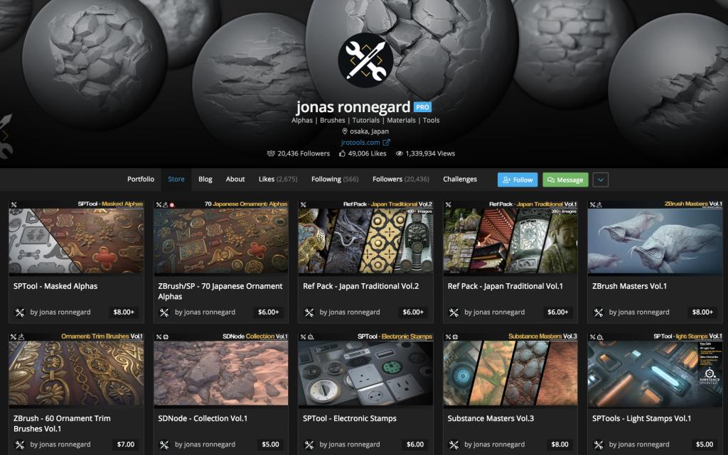 ArtStation Marketplace Success Story: Jonas Ronnegard