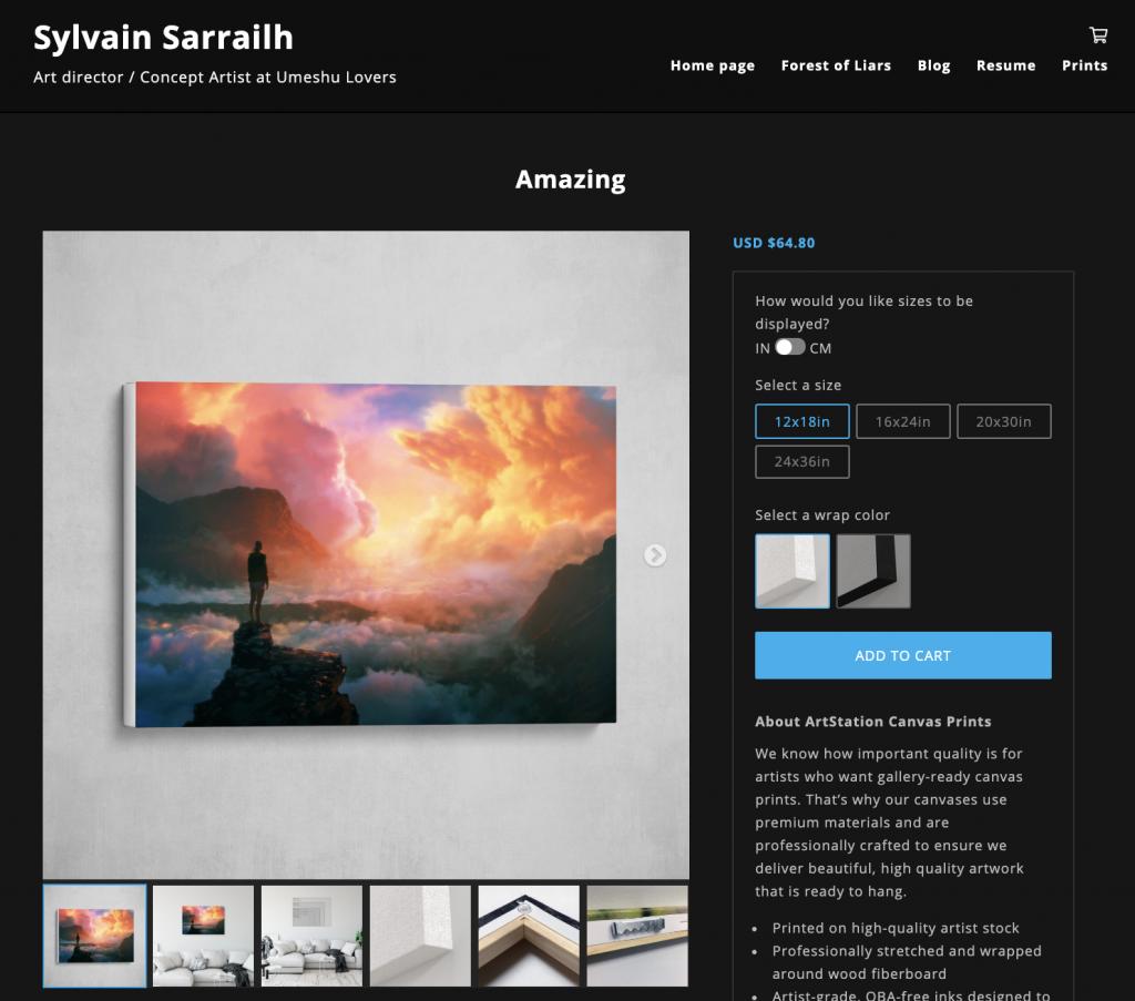 Sell Prints on Your ArtStation Website - ArtStation Magazine