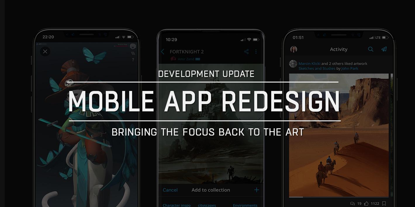 Artstation App Redesign Bringing The Focus Back To The Art Artstation Magazine