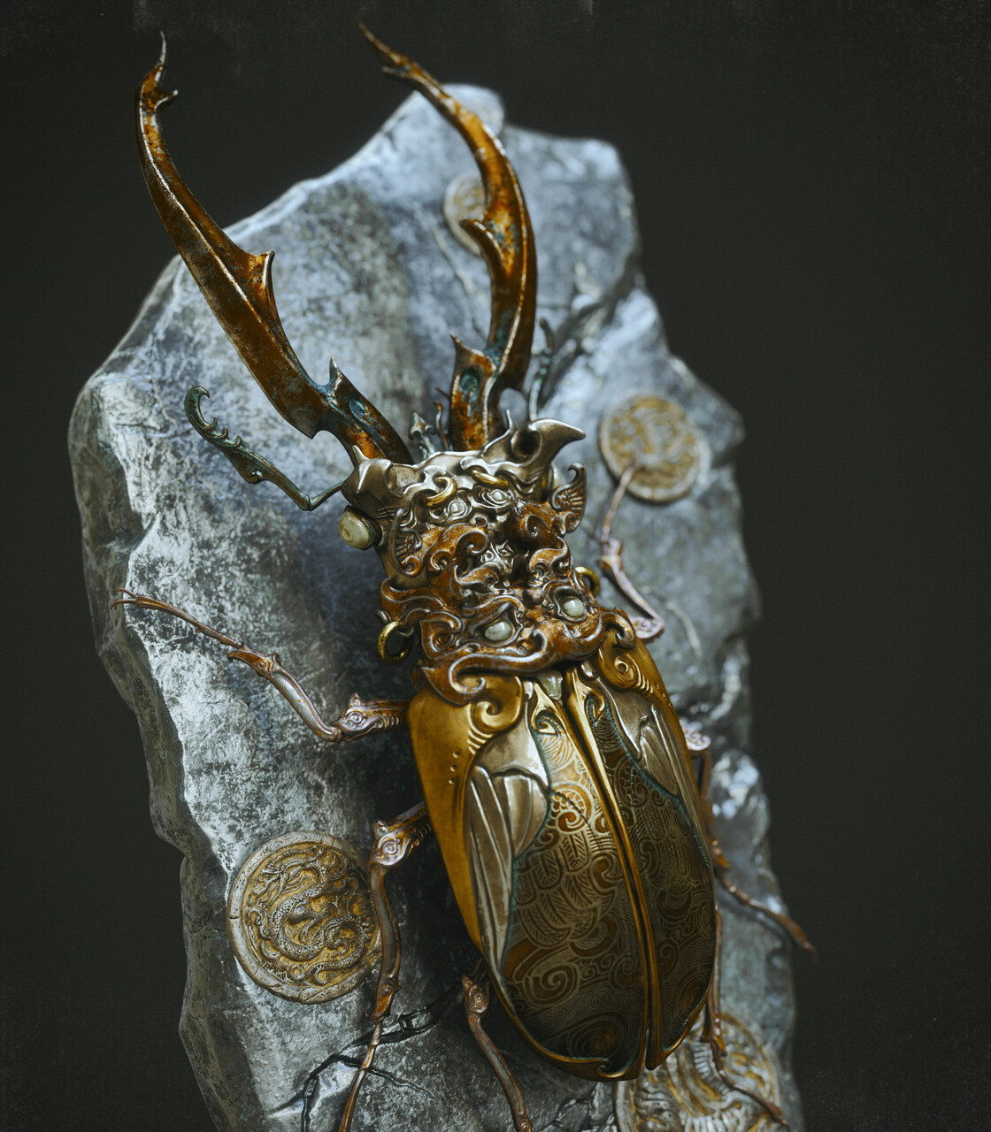 1st Place Adobe Dimension & Adobe Stock - The Art of 3D Insects Challenge: Zhelong Xu