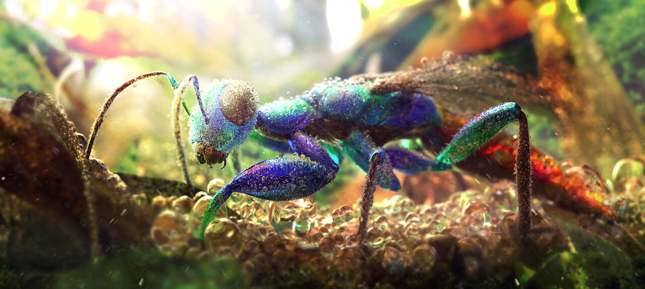 Honourable Mention Adobe Dimension & Adobe Stock - The Art of 3D Insects Challenge: JY