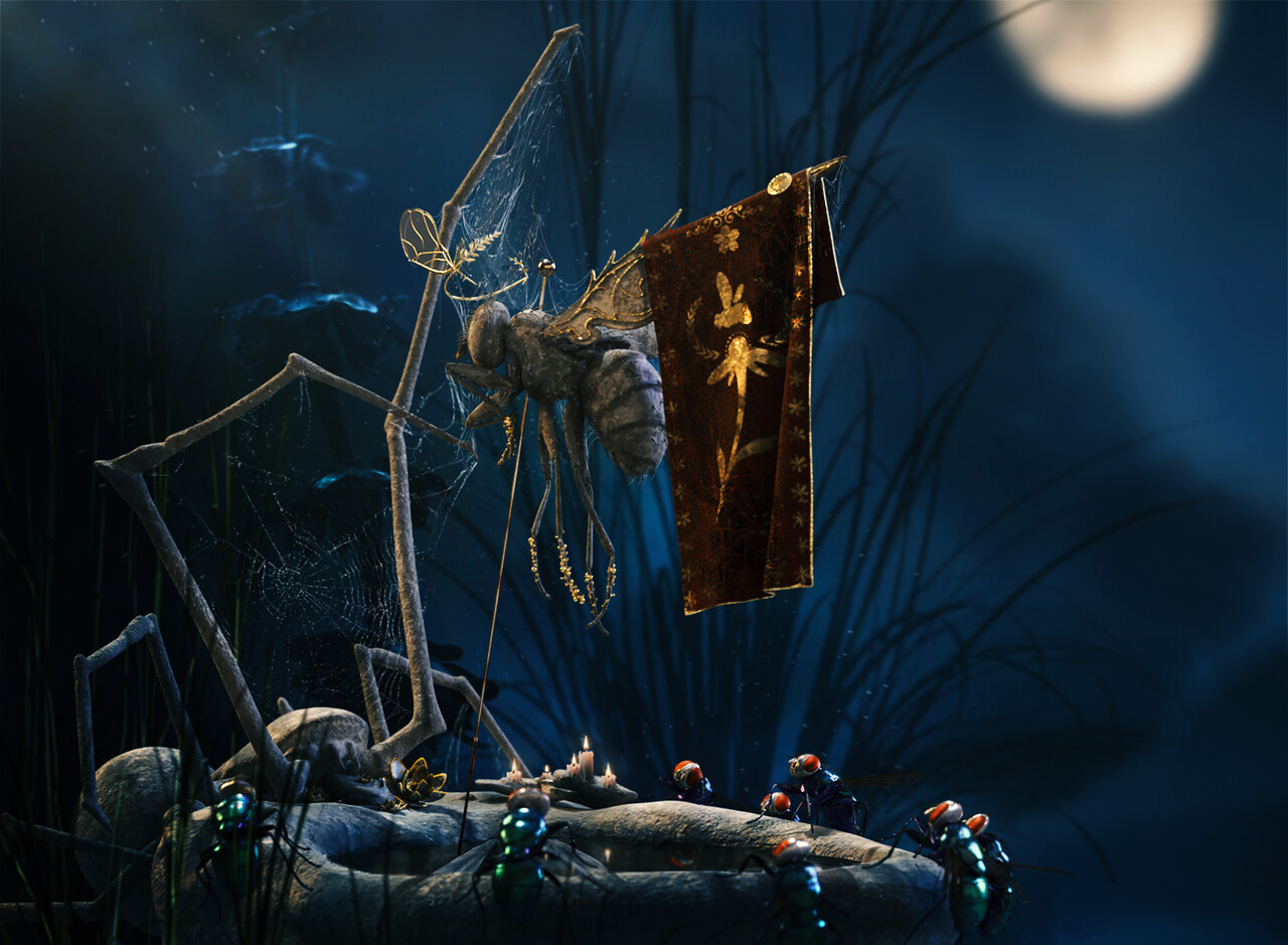 Honourable Mention Adobe Dimension & Adobe Stock - The Art of 3D Insects Challenge: Batuhan Harman
