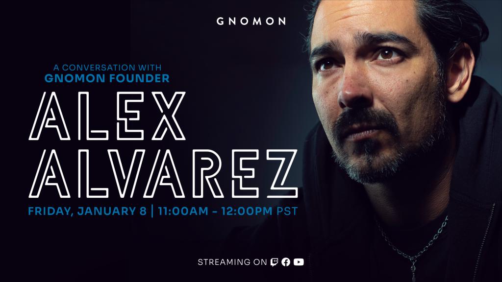 A banner image of Alex Alvarez