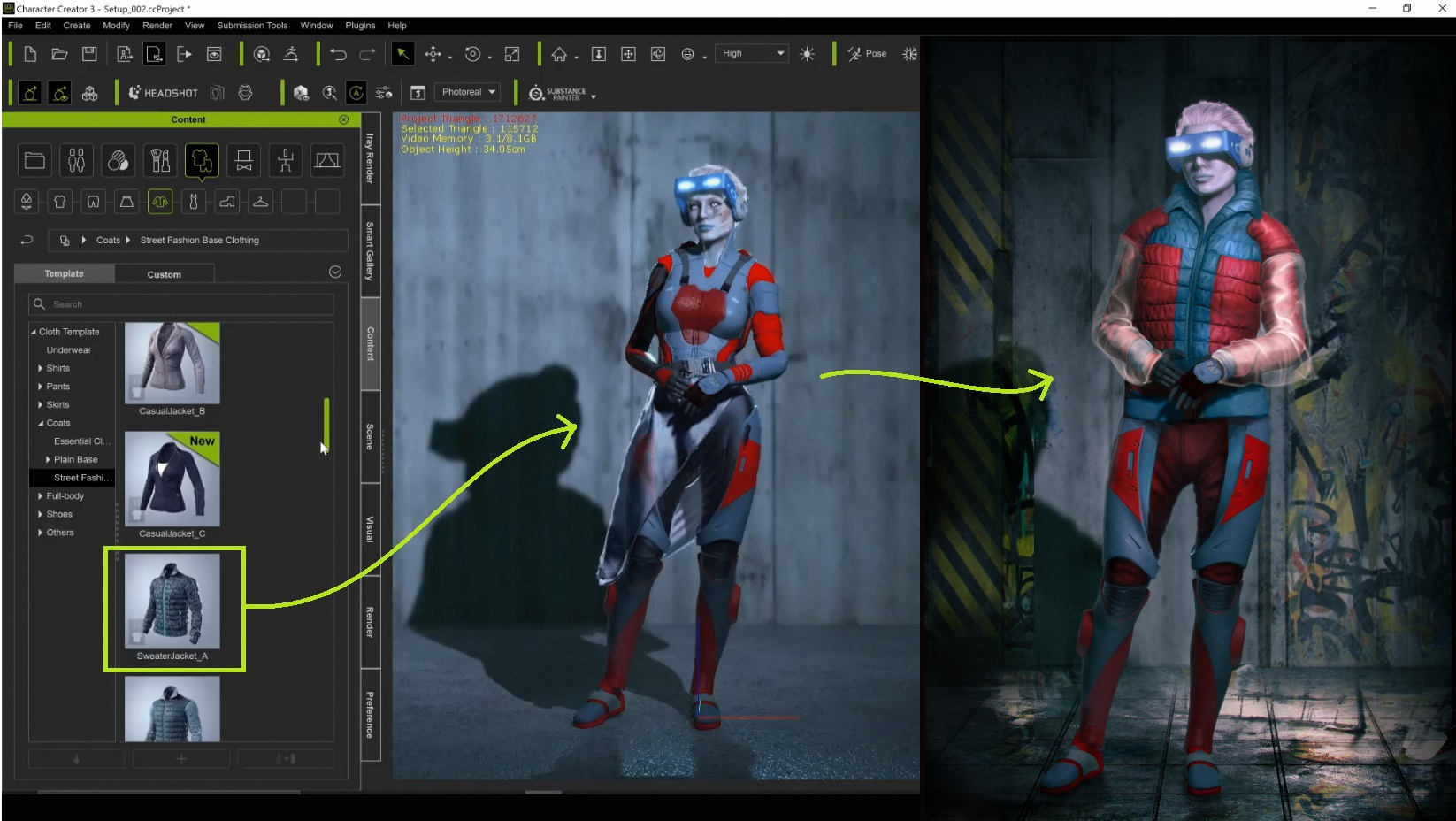 Accelerating Concept Art with Character Creator