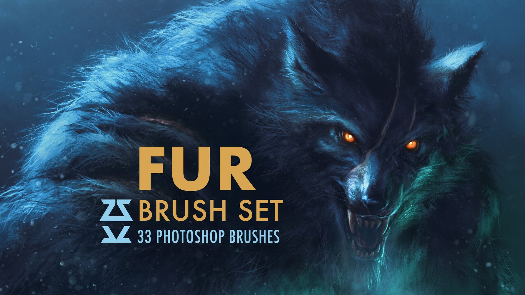 Image of a werewolf with the name of the brush pack