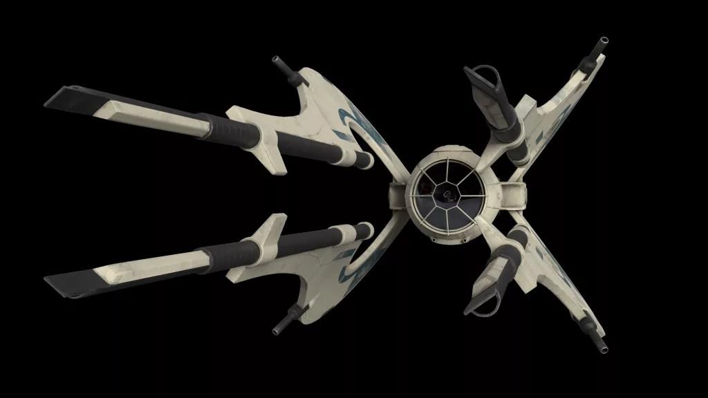 A sci-fi space ship
