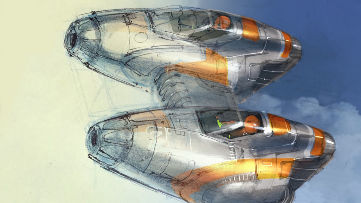Sketch of a space ship