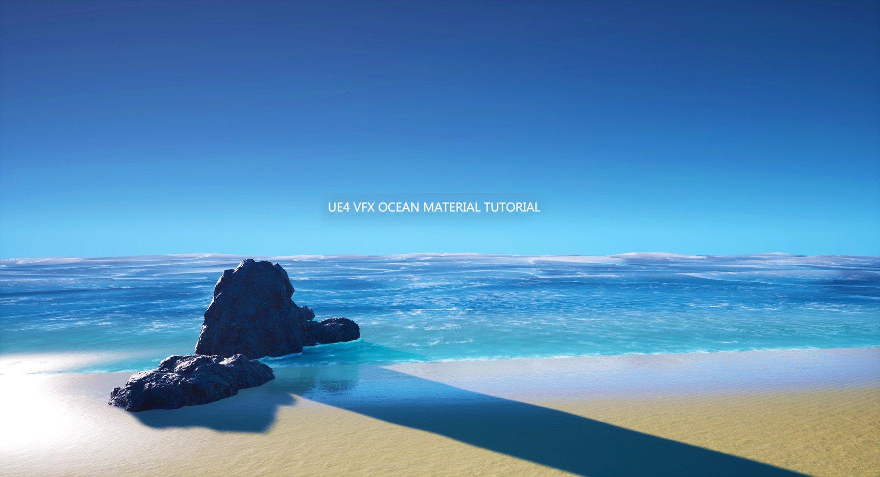 open blue sky and ocean