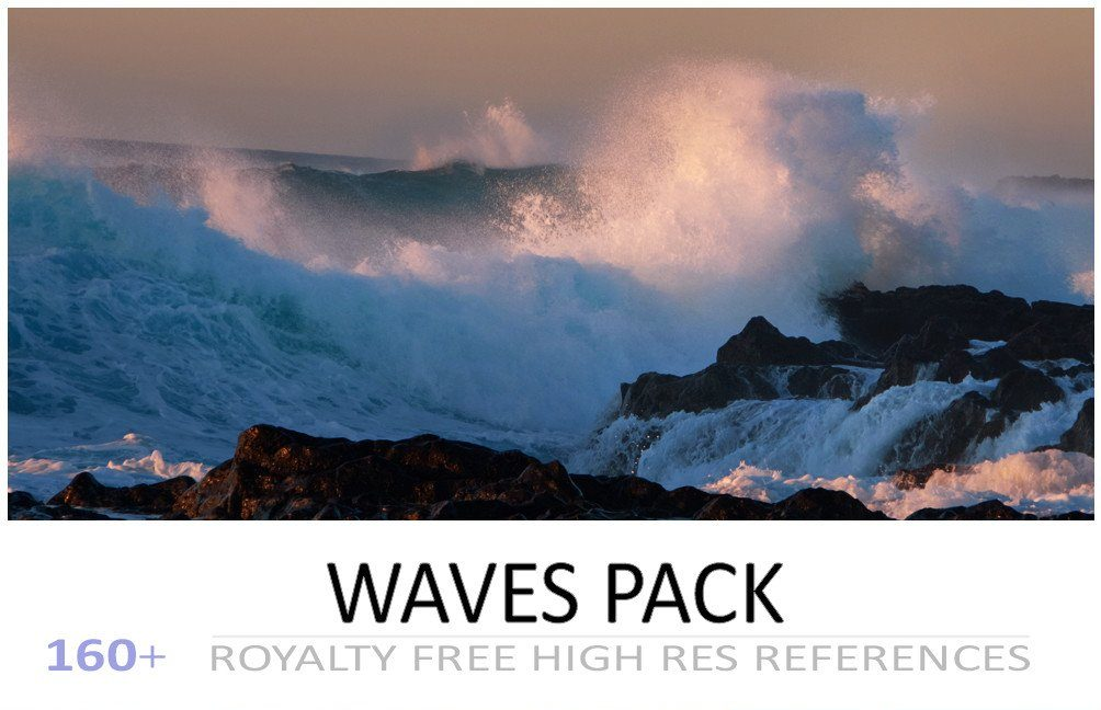title card for the waves pack