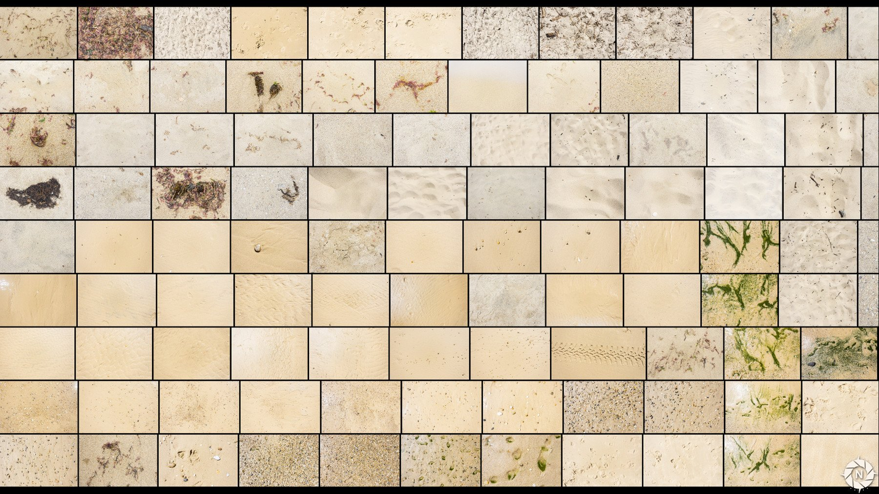 overview images of sand textures